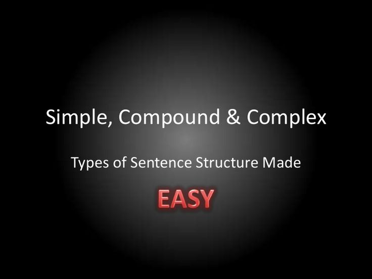 Sentence structure types Made Easy