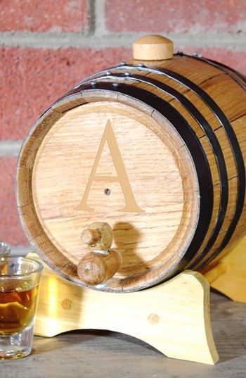 CATHY'S CONCEPTS Personalized Oak Whiskey Barrel, Small available at #Nordstrom