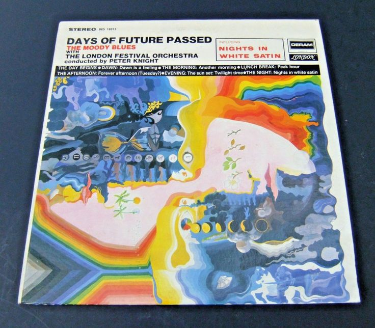 THE MOODY BLUES Days Of Future Passed 1967 LP Nights In White Satin  Deram #RockProgressiveArtRock