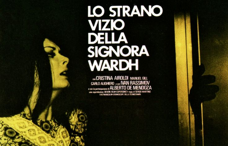 2019 Movies Horror Poster: 'The Strange Vice Of Mrs Wardh' (1971) Great Giallo