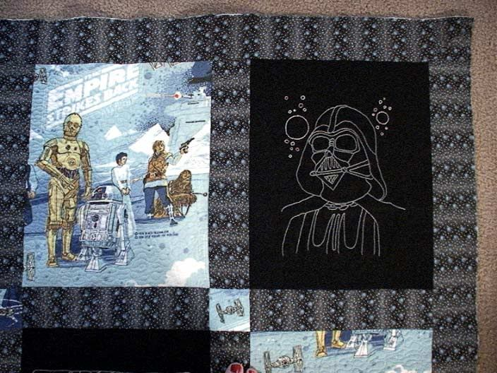 Star Wars Embroidered Quilt! *image Heavy...   NEEDLEWORK