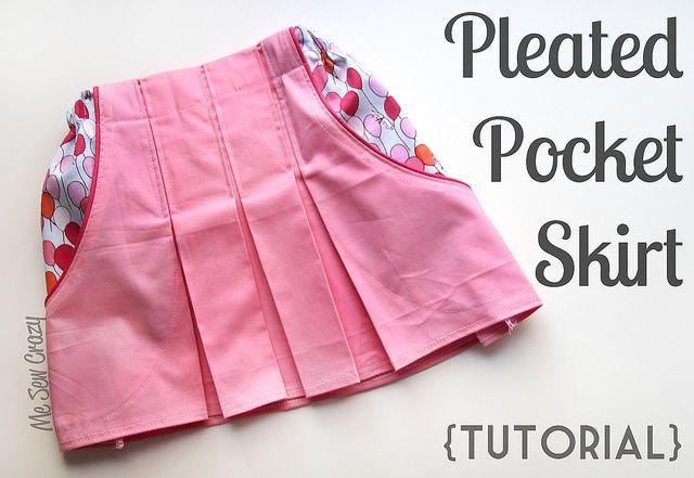 pleated pocket skirt tutorial