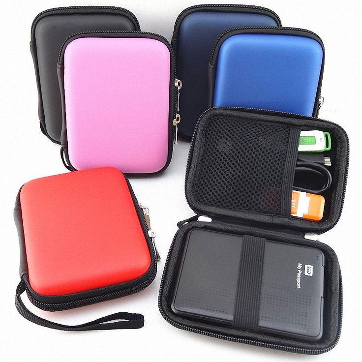 Portable estuche para disco duro externo Zipper External 2.5 HDD Case Pouch Hard 2.5 GPS Hard Disk Drive hdd hard case GH1328