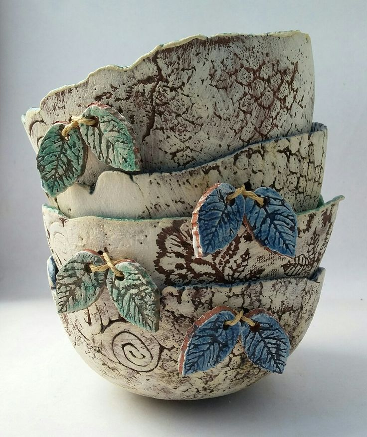 Rustic terracotta bowls