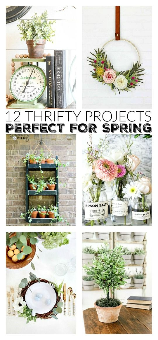 12 Adorable, easy and fun spring DIY projects that won't break the bank! #spring #springdecor #diy
