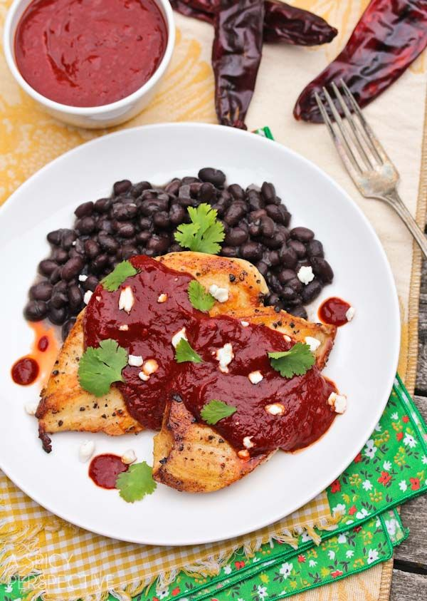 Chicken Mole Recipe (Pollo Rojo) A Latin inspired dish with big personality. Healthy, hearty and habit-forming... in a good way. Chicken Mole Recipe with