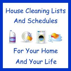 Get a free 40 page e-book containing a house cleaning list and house cleaning checklists for around your home by becoming a Facebook fan of Household-Managem....