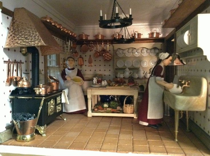 Cocina antigua maqueta cocinas de ejemplo al sur de for Cocinas de hierro antiguas