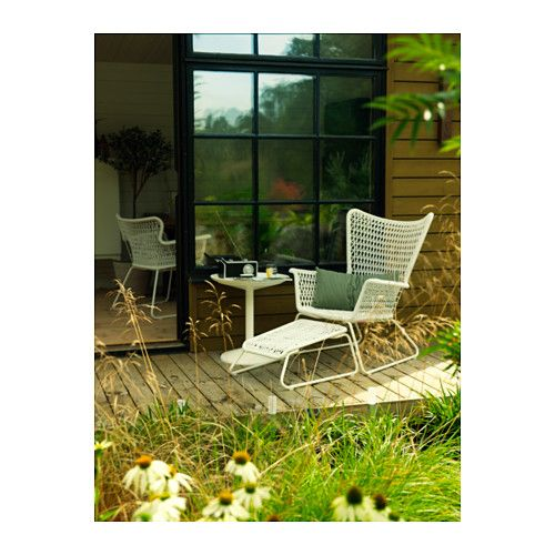 HÖGSTEN Armchair, outdoor - white, - - IKEA