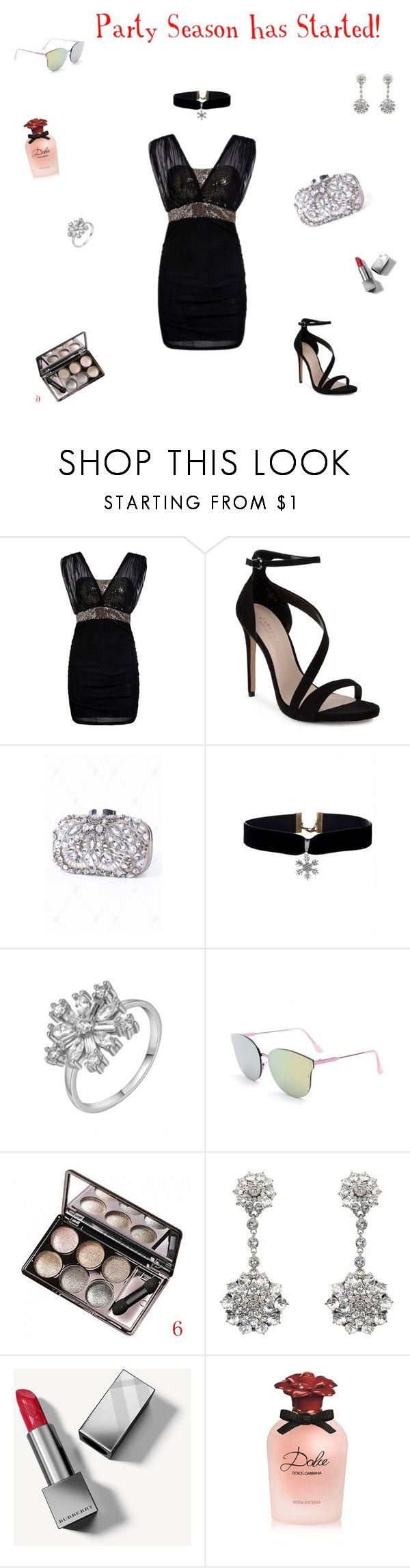 """Icy Winter Fashion"" by rboowybe ❤ liked on Polyvore featuring Carvela, Oscar de la Renta, Burberry and Dolce&Gabbana"