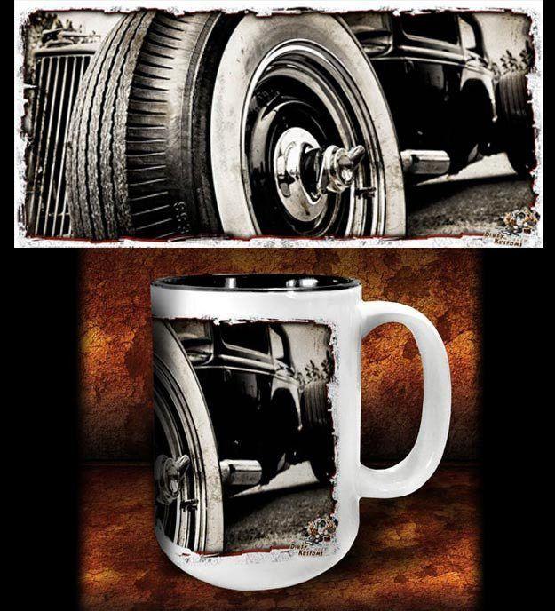 'Ol' Spinner' hot rod kustom coffee mug