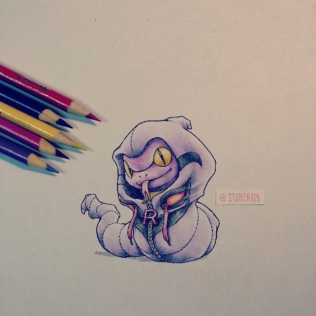 Ekans wearing an Arbok costume :P