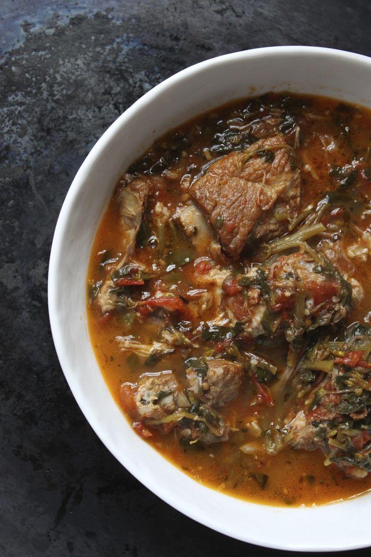 Verdolagas con Costillas de Puerco/ Purslane with Spareribs Stew