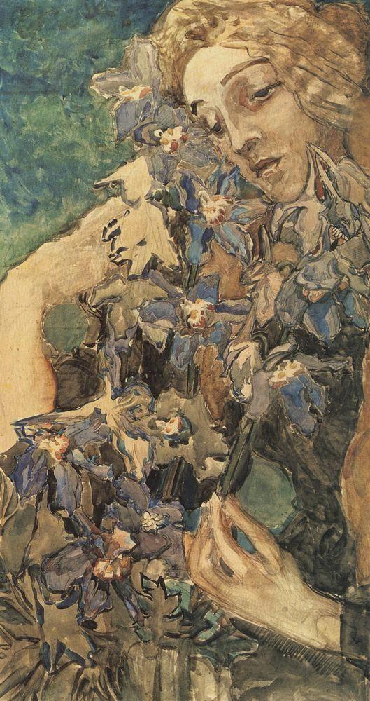 blastedheath:  denisforkas:  Михаил Врубель - Примавера. 1897  Mikhail Vrubel, Primavera, 1897