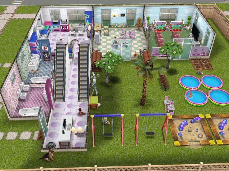 Sims freeplay i like the house layout as an 39 l 39 shape for Sims 4 house design layout