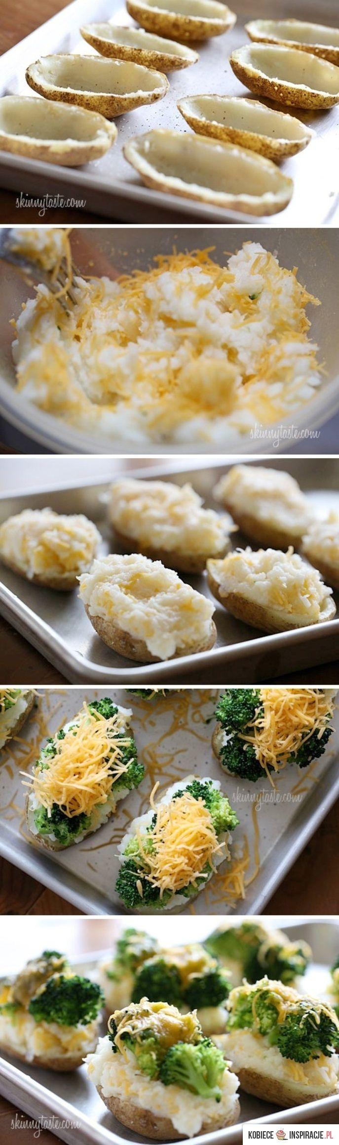 ziemniaczki nadziewane z brokułami i serem