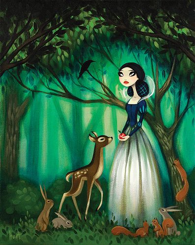 The Poisoned Apple by kristahuot, via FlickrSnowwhite, Disney Princesses, Illustration, Art, Krista Huot, Kristahuot, Poison Apples, Fairies Tales, Snow White