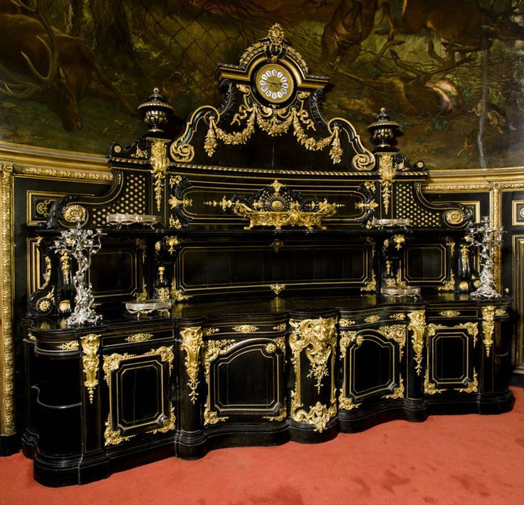 large sideboard in napoleon s iii apartments at the louvre. Black Bedroom Furniture Sets. Home Design Ideas