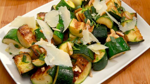 Zucchini With Parmesan and Almonds