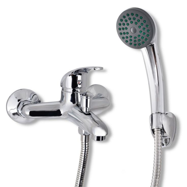 Handheld Shower Head with Wall Mixer Tap in Chrome | Buy Shower Sets