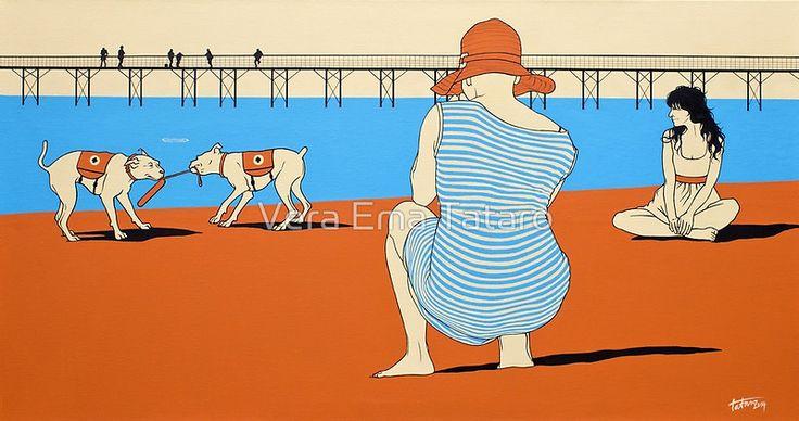 On The Beach - Safety Guys, acrylic painting