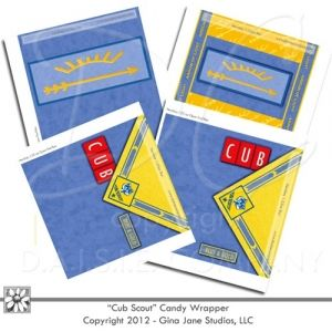 Cub Scouts - Arrow of Light and Blue and Gold Banquet, Cub Scout Pack Meeting - Advancement - Award Nights - Free Printables -Hershey Bar Wrappers - Do it yourself, Cub Scout Refreshments, Treats, Gift ideas for Cub Scouts and Scout Leaders - Den Mother's need chocolate too!  - USE THE COUPON CODE: FREEBIES - By -  Gina Jane Designs - DAISIE Company