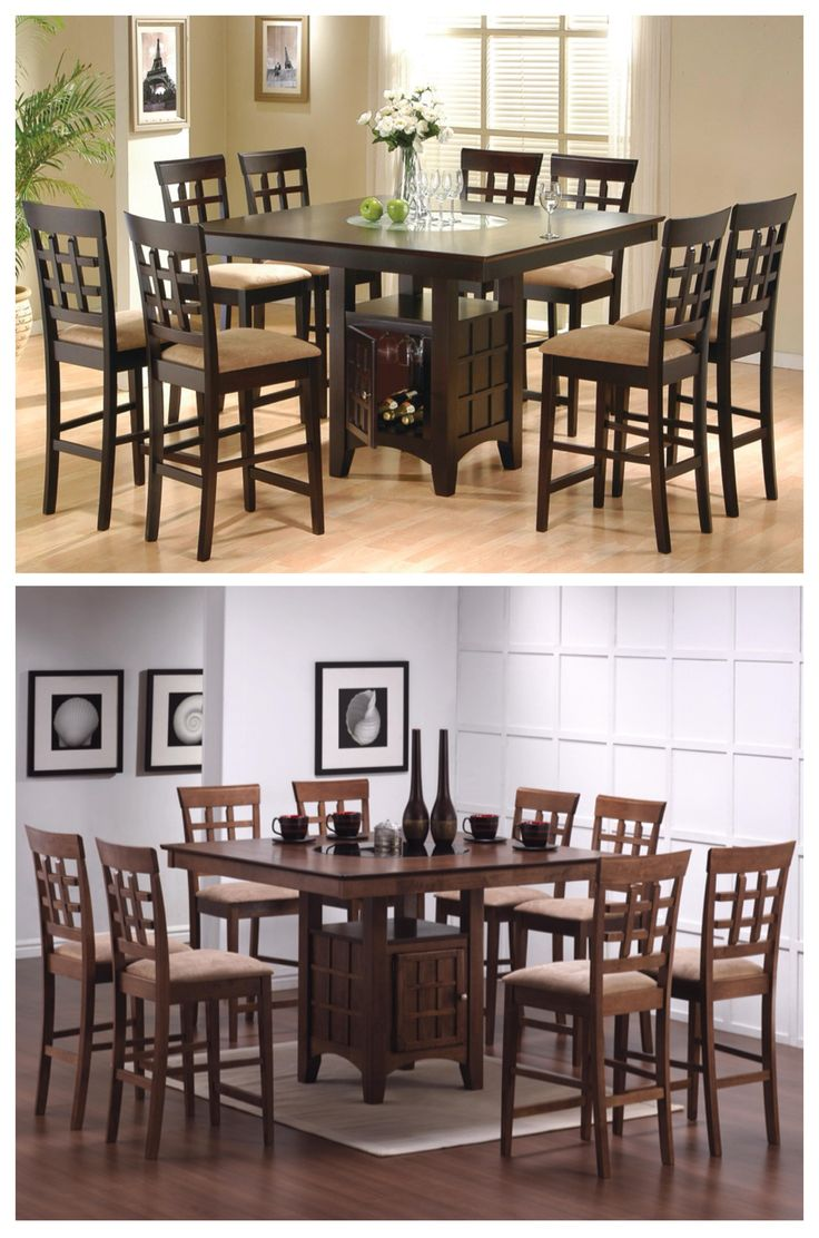Charmant Sleek Counter Height Dining Table And Chair Set Will Be The Perfect  Addition To Your Casual Dining And Entertainment Space. The Large Square  Counter Height ...