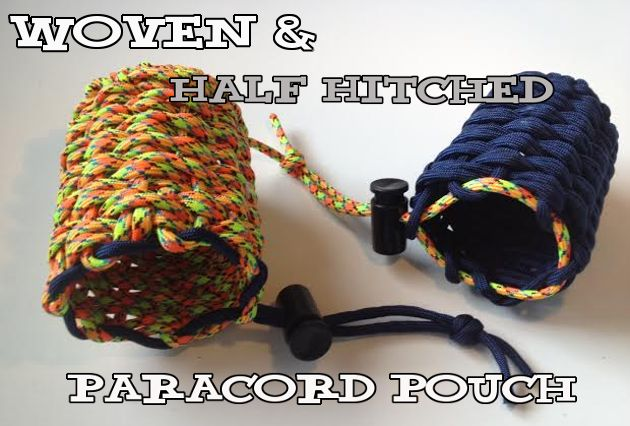 Woven and half hitched paracord pouch paracord projects for Paracord case