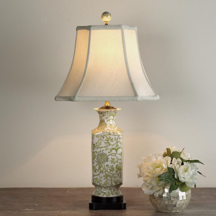 $165   Floral Toile Table Lamp