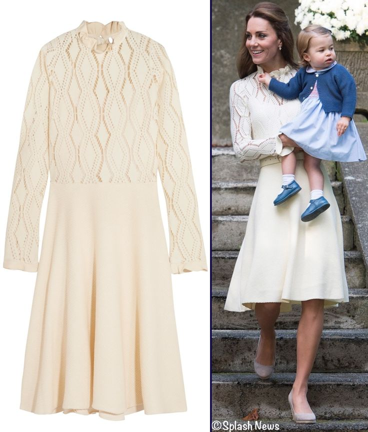 The Duchess debuted a new dress from See by Chloé for today's children's party in Canada. Kate wore the Pointelle Knit Cotton Blend Dress. Beautiful!