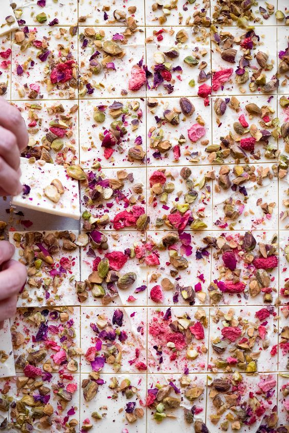 Rose, Strawberry, & Pistachio Chocolate Bark | Now, Forager