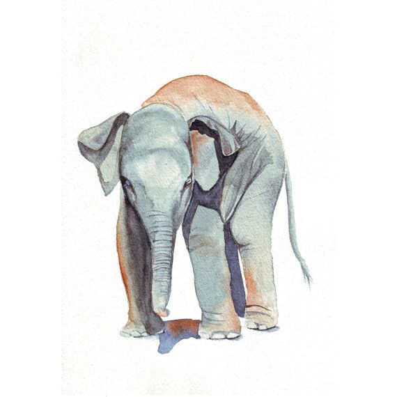 Elephant Painting  print of watercolor painting 5 by Splodgepodge, $15.00