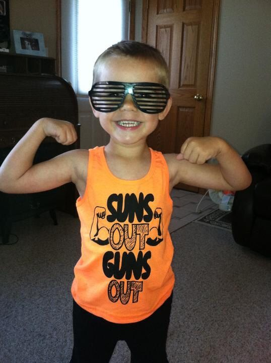 kids suns out guns out tank top t shirt youth cute summer sleeveless awesome cool humor funny boys children tee by BetterThanRealLife on Etsy https://www.etsy.com/listing/184561085/kids-suns-out-guns-out-tank-top-t-shirt