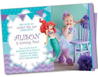 Little Mermaid Invitation Little Mermaid invite by DellaEvents