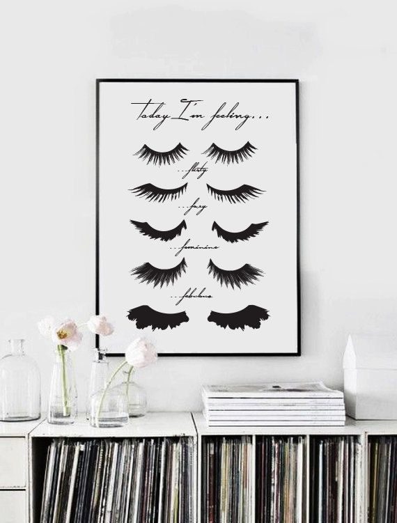 Minimalist Poster Eye Lashes Fashion Print Wall by LovelyPosters