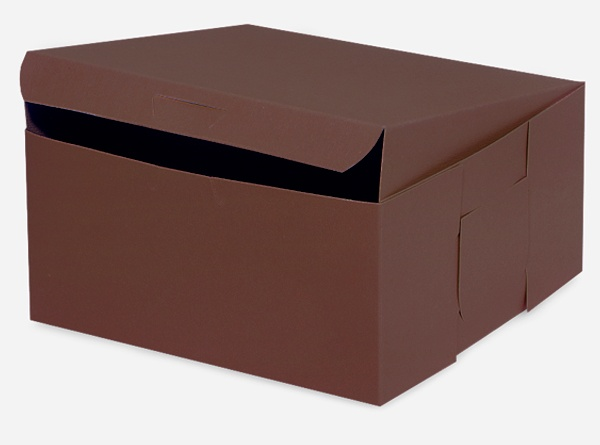 "10x10x5"" CHOCOLATE Bakery Boxes 