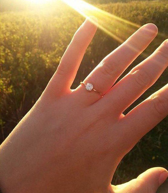 Pin for Later: 30 Small Real-Girl Engagement Rings With Big Impact Light Catcher