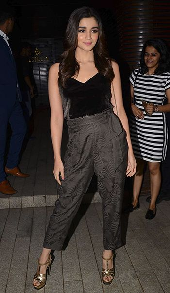 Alia Bhatt in an H&M top and Topshop pants