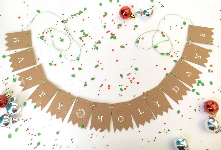 A personal favorite from my Etsy shop https://www.etsy.com/ca/listing/560948111/happy-holidays-rustic-holiday-bunting