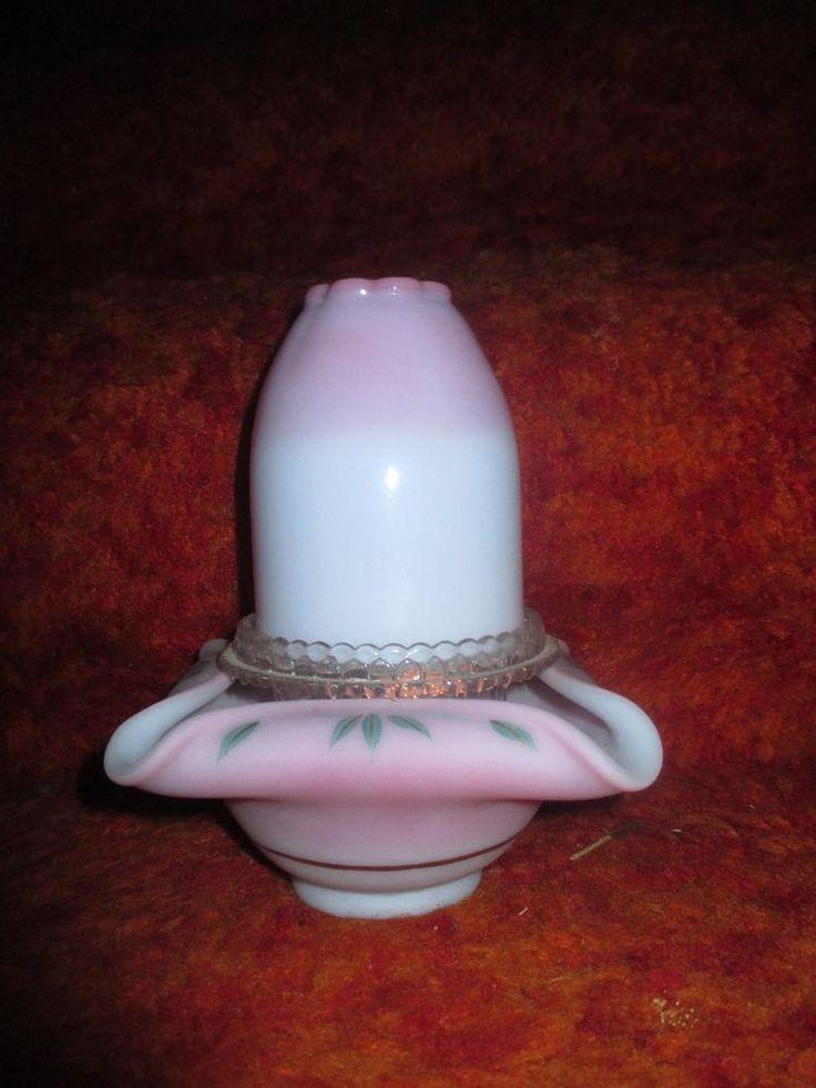 Fenton blue Burmese fairy lamp light
