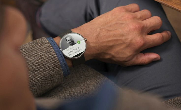 Moto 360 Smartwatch with Android Wear | Cool Material