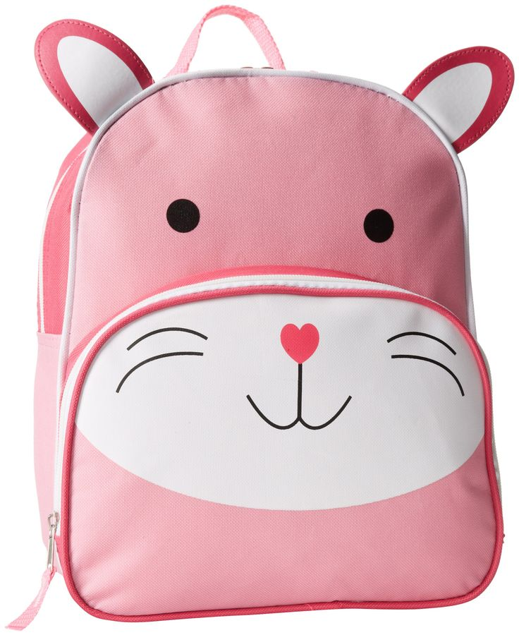 this pink bunny backpack is the cutest