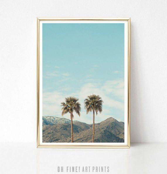 Printable Wall Art Palm Springs Digital DOWNLOAD Palm Tree Print California Print