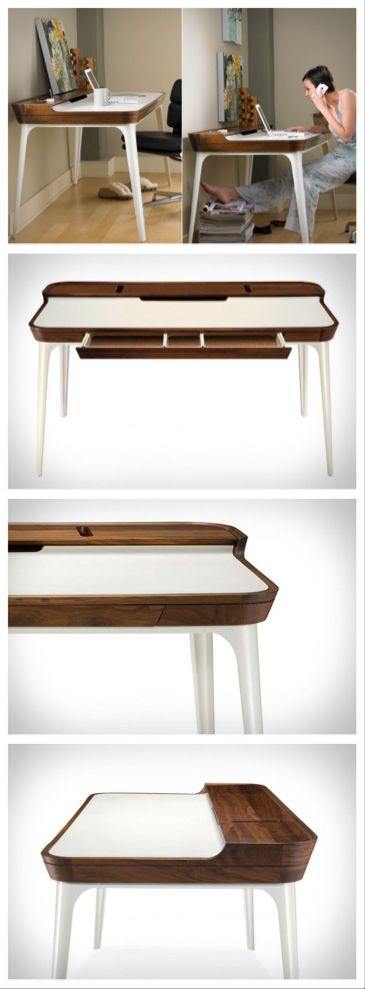 Beautiful Airia Desk by Herman Miller I saw on www.blessthisstuff.com - a must have for any study. www.blessthisstuff.com/stuff/living/tables/aria-desk-by-herman-miller