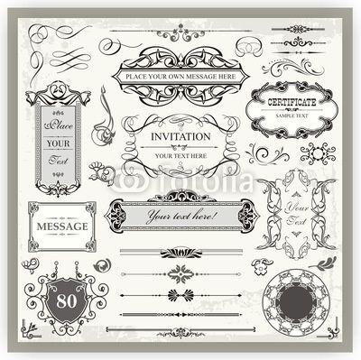 Vintage Ornamental and Page Decoration Calligraphic Designs © Vallentin Vassileff #32360968