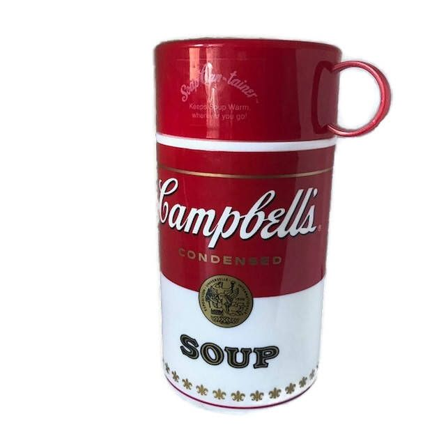Excited to share the latest addition to my #etsy shop: Campbell's Soup Can-tainer Insulated Thermos 11.5 oz/340mm Container 1998 USA Red and White Condensed Soup Container with Lid Hot Liquid #housewares #cambells #soup #cantainer #togo #condensed #retro