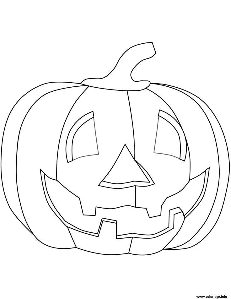 Coloriage citrouille halloween enfants à imprimer ...