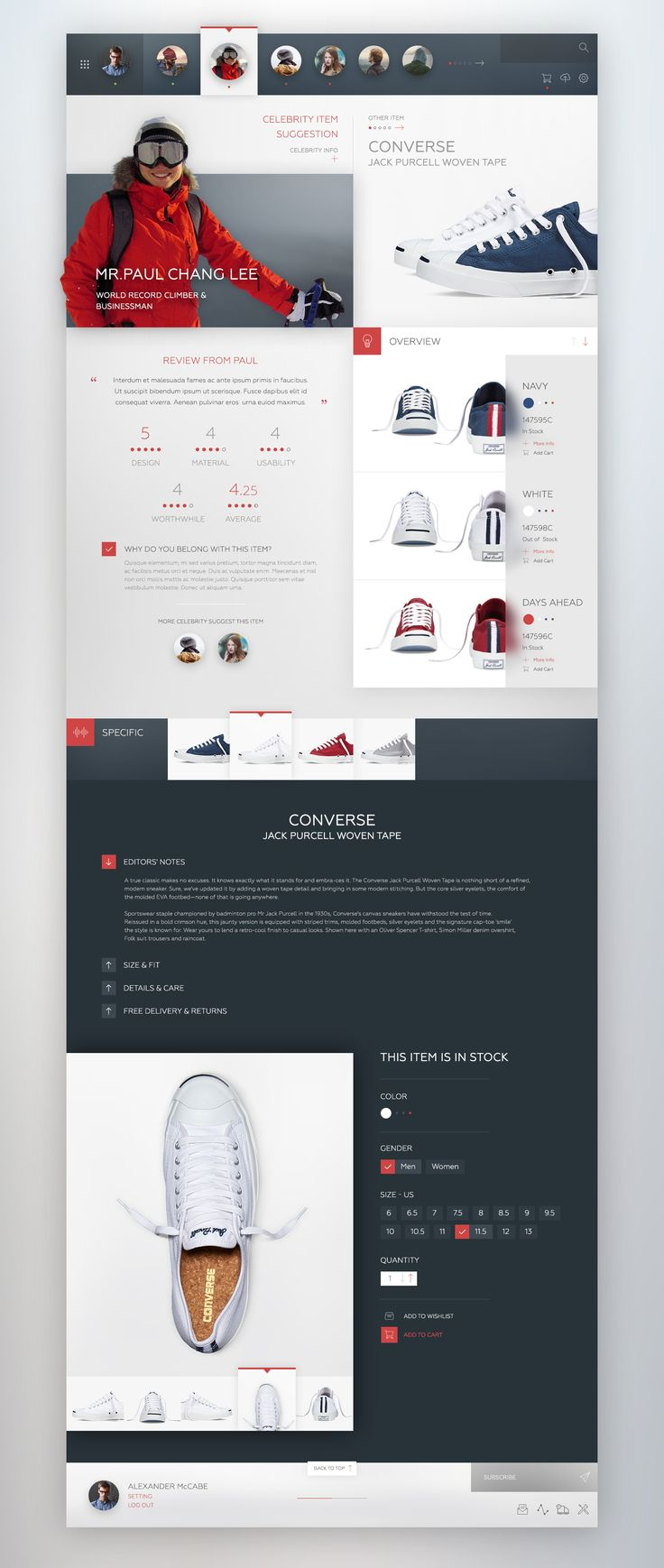 Webdesign User Interface