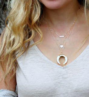 collier corne lune