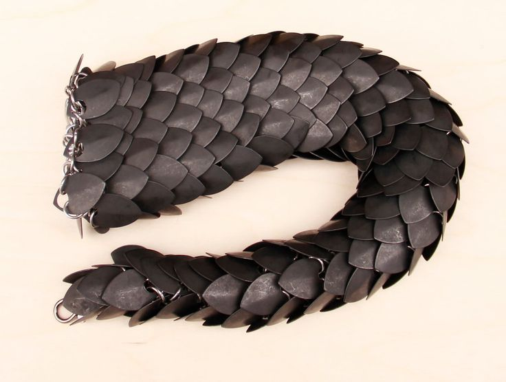 Dragon Tail WIP - Blackened Steel by DracoLoricatus.deviantart.com on @DeviantArt